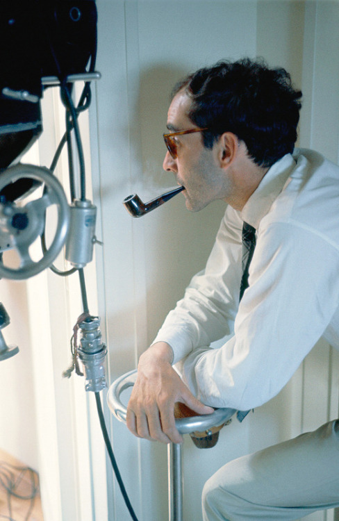 waltdisneywithblood:  Jean-Luc Godard on the set of Le Mépris (1963). (Via)