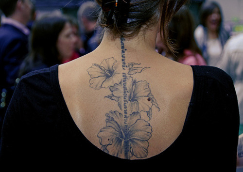 prints:  Flower tattoo