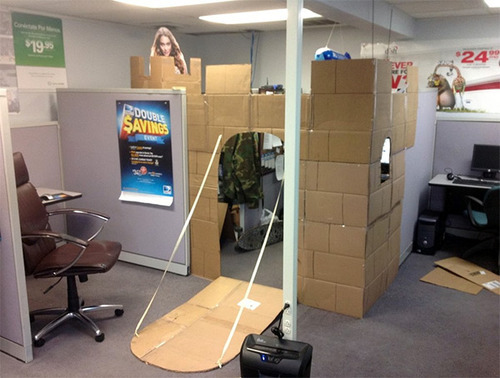 I am going to take measurements of my cubicle at work so I can do something like this at work.