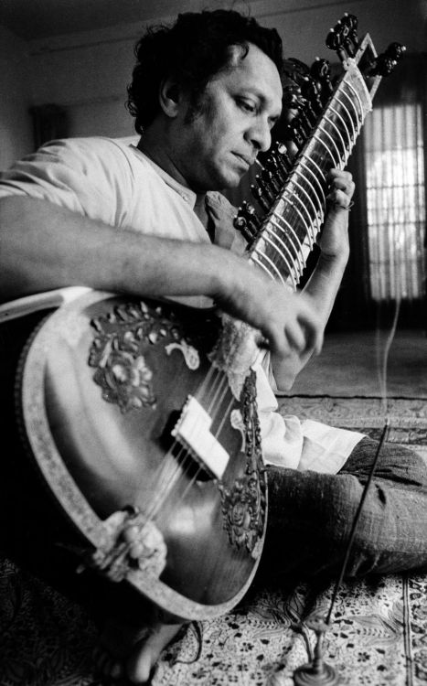 Ravi Shankar (April 7, 1920 – December 11, 2012) Very sad he passed away — an amazing artist, an amazing man. Luckily, we still have his music. (Picture from 1967)