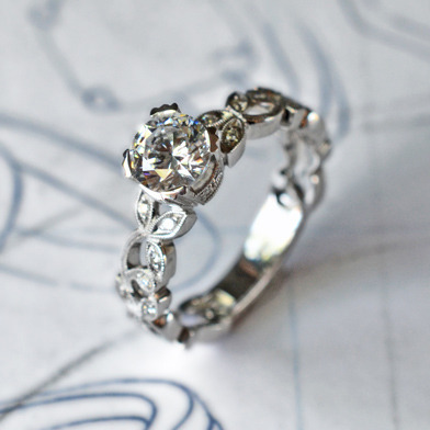 diamond engagement ring by Jolie