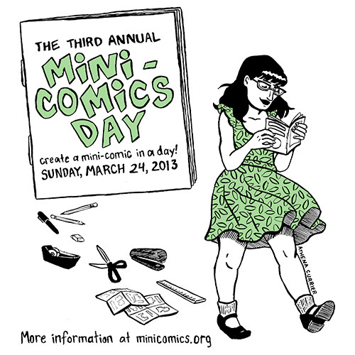 comixace:  March 24!  Hopefully I can participate this… May or may not have to be rehearsing a glow dance (dancing around on a dark stage with glow tape) for the staff talent show at the school I work at. Not my idea!!!