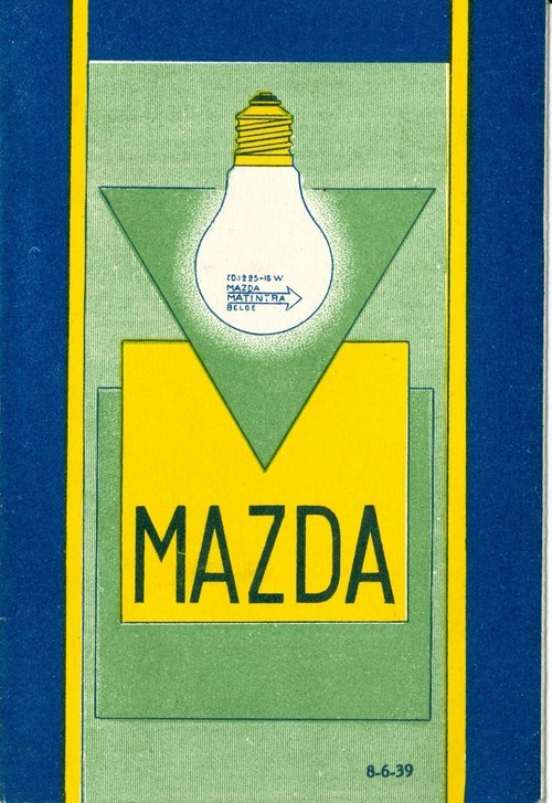 what-floats-my-boat:  Mazda Lightbulb Adc. 1930via Davide Levine