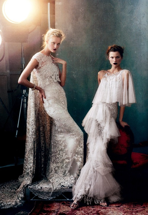 smellsjustlikecouture:  Speechless gowns.. Vogue US February 2013