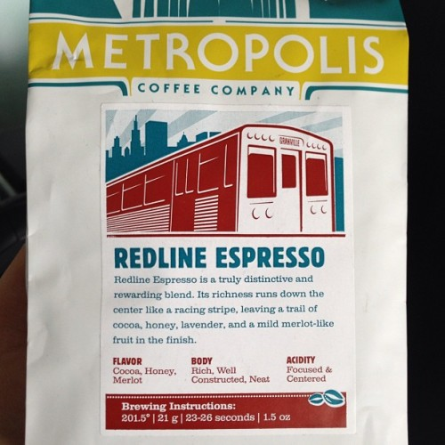 Today's beans in honor of the Chicago L line that I grew up next to. Redline (sic) by Metropolis.