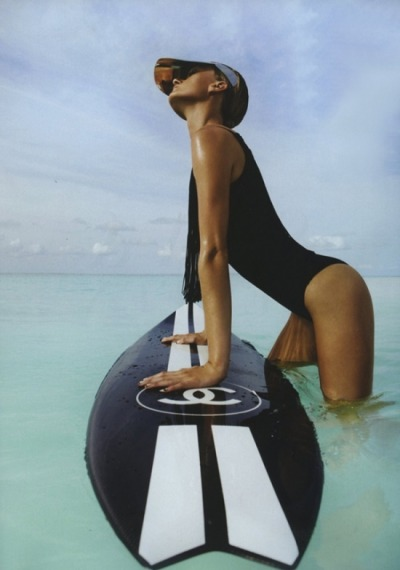 surf's up #chanel #surfs #girl