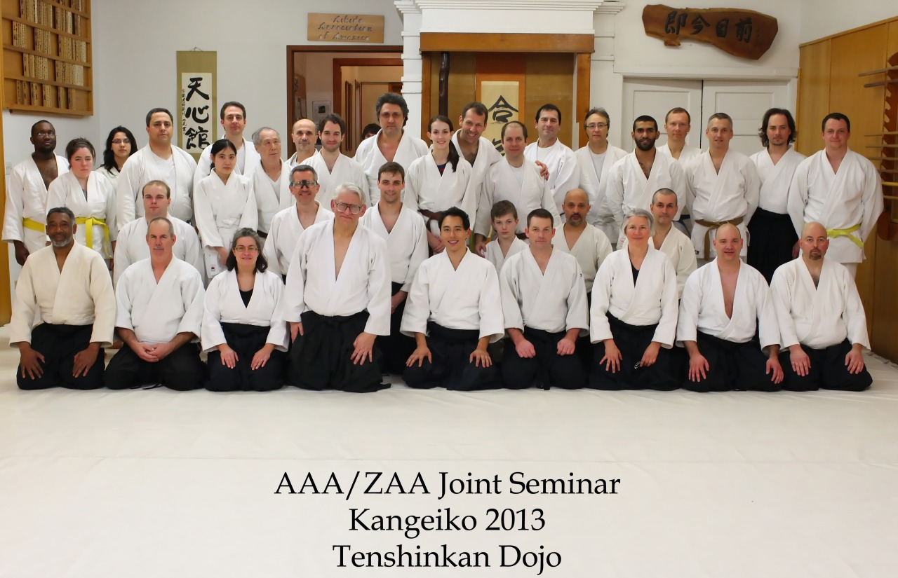 Aikido Association of America and Zenshinkai Aikido Association joint seminar at Tenshinkan Dojo in Chicago, IL.