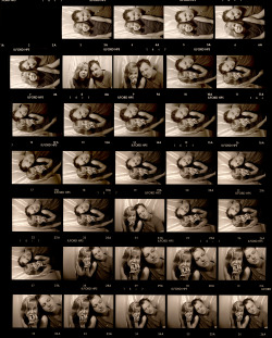 Throwing Muses. Original contact sheet of the Kristin Hersh and Frank Black (Pixies) photo shoot for the Melody Maker, 7th of May 1988 issue. by Phil Nicholls; seen on Pixiesbook.com
