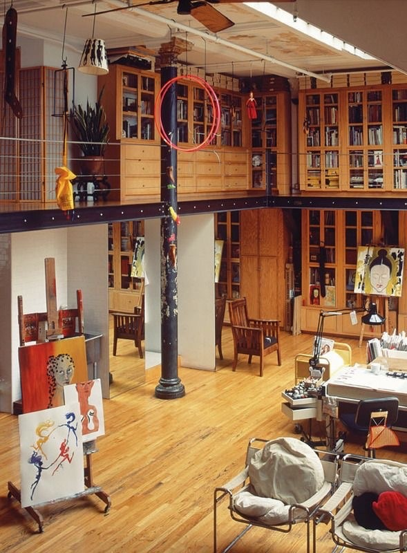 The new york loft of isabel and ruben toledo fashion for High loft garage storage