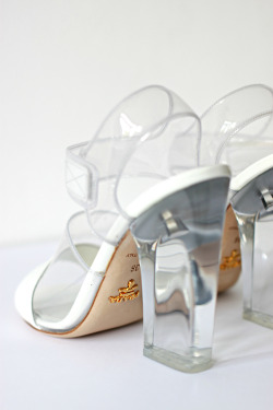 Lucite Prada sandals from Spring/Summer 2010