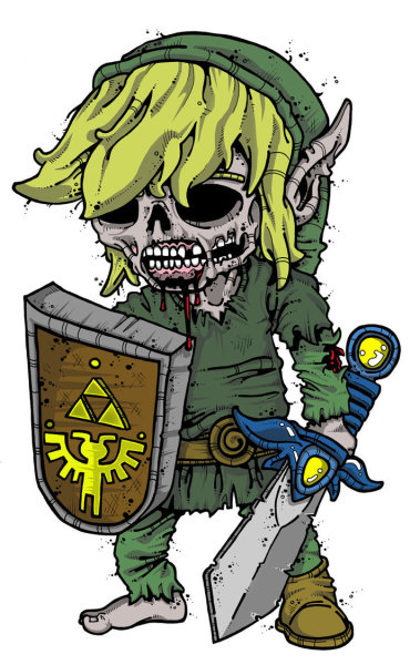 masterofkarateandfriendship:  Zombie Link by nappyhead