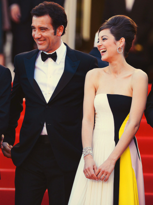 Clive Owen & Marion Cotillard attend the Blood Ties Premiere during the 66th Annual Cannes Film Festival on May 20, 2013.