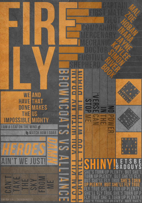 mererecorder:  Firefly Typography Poster v.2 by ~theramunefizz