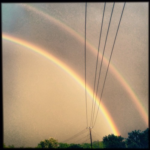 Anyone else catch the super sweet double rainbow over Nashville tonight?