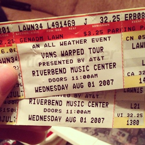 Came across these while packing. My first Warped Tour. #Memories