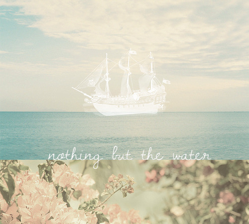 nothing but the water; a playlist for when you're a sinner about to drown, when you're lost at sea, when you can barely recall the flowers blooming in the summer heat but you try your best…  I. nothing but the water (I); grace potter and the nocturnalsII. let the river in; radical faceIII. lili marleen; whitestone mpIV. souls too loud; the revivalistsV. kingdom come; the civil warsVI. restless sinner; black rebel motorcycle clubVII. the storms are on the ocean; great lake swimmersVIII. within the rose; matthew and the atlasIX. the ocean song; tiny vipersX. buried in water; dead mans bones  LISTEN // DOWNLOAD