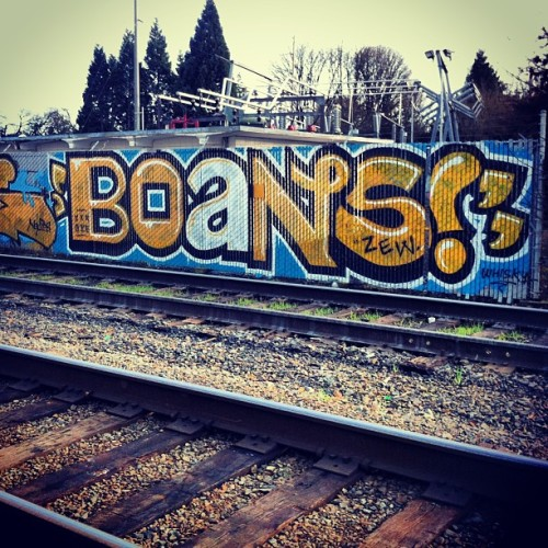 BOANS! #boans #thereader #readmorebooks #graffiti #streetart #railroad #rail #tracks #eugene #eugenestreetart