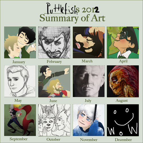 Here's my 2012 summary of art aka the year I barely did any art