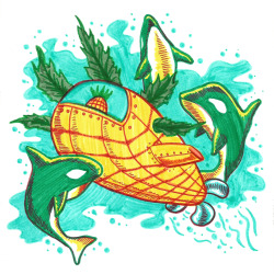 The Markers Gang-A blog of creators drawing with Markers.Each drawing reffers to the previous one, and has to contain a Pineapple.   Read an interview with the gang on Portfolio Blog Back to Index