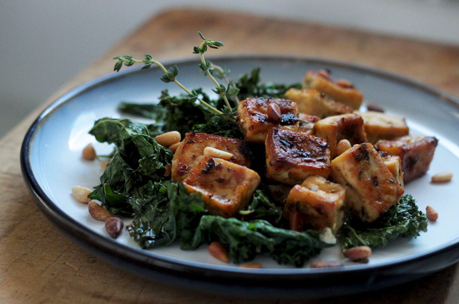 Gluten Free (via roasted tofu and kale with pine nuts delicious surprises » The First Mess)