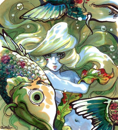 ignissannat:  Sea nymph by  ~dakari