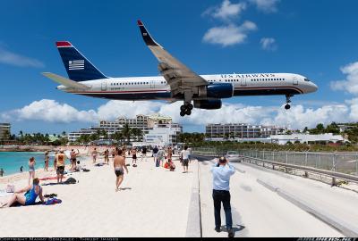 #spirit_airlines, #us_airways, #boeing, #boeing_757, #boeing_757_200, #b757, #b752, #airbus, #airbus_a319, #airbus_a320_family, #a319, #st_maarten_princess_juliana_interna