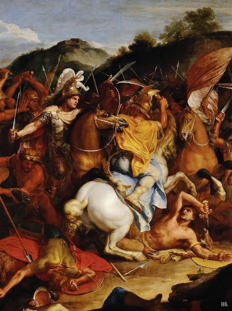 hadrian6:  Detail : The battle of Granicus 1665. Charles Le Brun. French. 1619-1690. oil on canvas.  Louvre Museum. http://hadrian6.tumblr.com