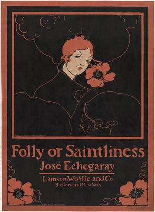 "centuriespast:  ""Folly or Saintliness"" by José Echegaray Ethel Reed (American, born 1876) 1895. Lithograph MoMA"