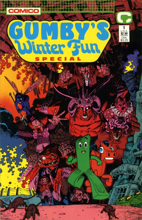 brianmichaelbendis:  Gumby's Winter Fun Special cover by Art Adams  That, uh… doesn't look all that 'fun' to me. o.o
