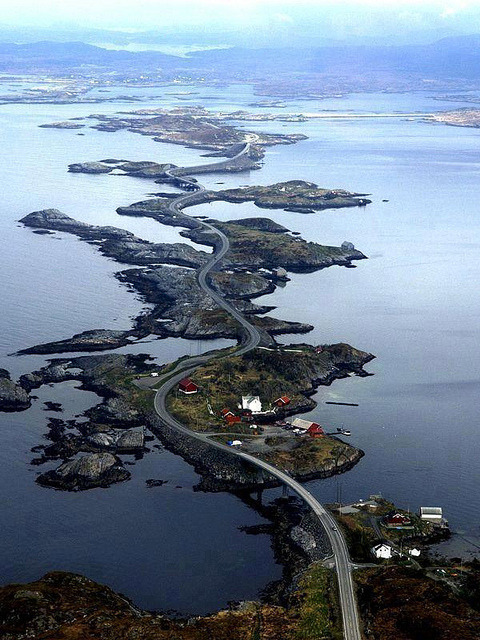 visitheworld:  The Atlantic Ocean Road in Møre og Romsdal, Norway (by Tanisha Systems).