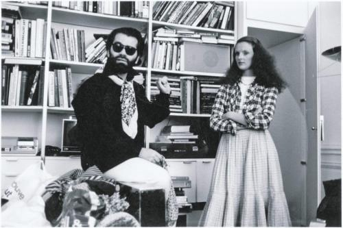 intothegloss:  Karl Lagerfeld and Grace Coddington