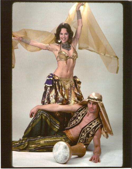 melanthia:  The legendary Mesmera with her drummer, Tom Small.