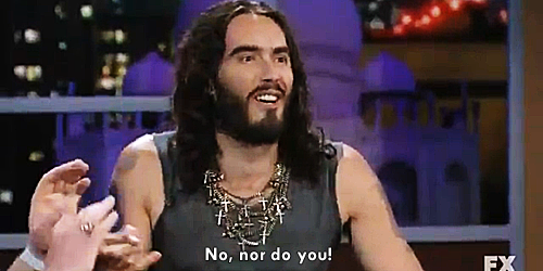 bretlowski:     Russell Brand & the Westboro Baptist Church    Stick it to 'em you ballsy british bastard!