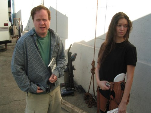 heathensobsessions:  Summer Glau in a harness - Firefly BTS picture - Imgur
