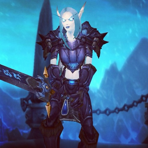 My awesome Blood Elf Death Knight =D