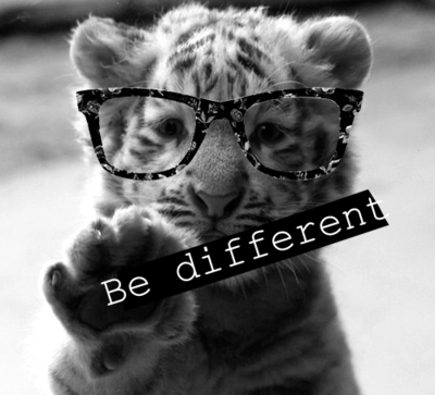 blackbeaar:  Be different