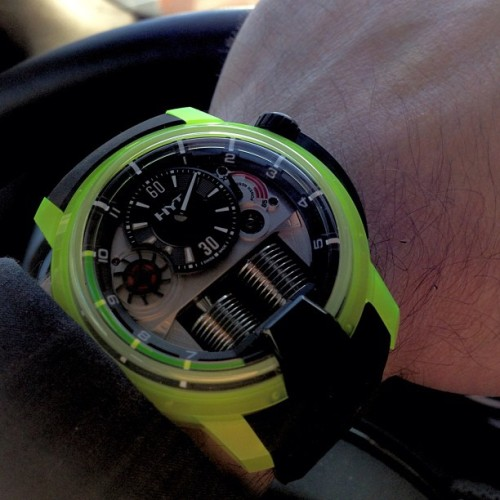 @HYTwatches heading to #baselworld ! Amazing new H1! More on Watchonista later today!