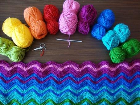 crochet crochet blanket yarn rainbow blanket ripple blanket