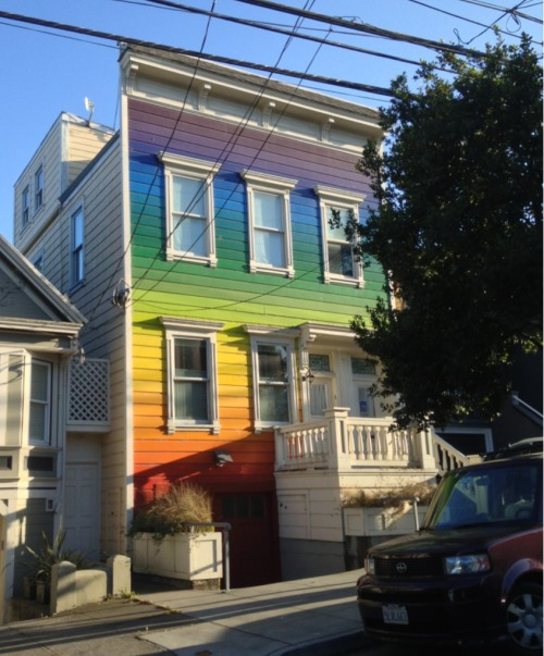 Rainbow house on Clipper in Noe Valley