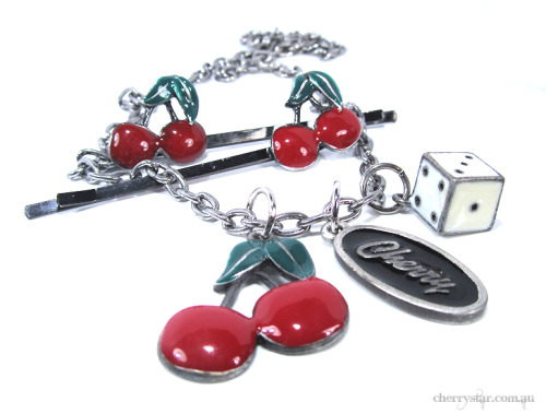 cherrystarshop:  The first ever Cherry Star auction is live! Jewellery, clothing and some bundles of awesomeness up for grabs. Ends 9pm Sunday 5th May (Brisbane time)