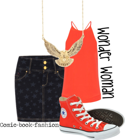 Wonder Woman (Casual) by comic-book-fashion  Casual Wonder Woman for panda-food