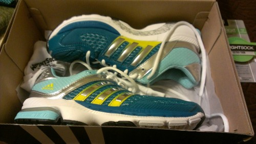 Won a free pair of running shoes from at Raffle from my Girls on the Run coach party!