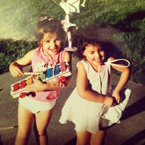 Happy Birthday to my sister!! #birthday #oldschoolphotos #sisters #backyard