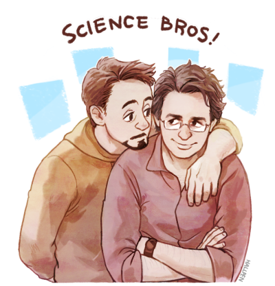 outofmydisneyland:  Science Bros! by *Hallpen