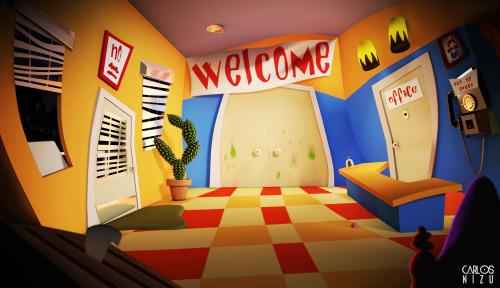 dott day of the tentacle fan art render 3d studio max vray cartoon videogame 3d 3d artist cg