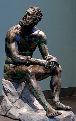 The Boxer, Roman bronze after a Greek Original.