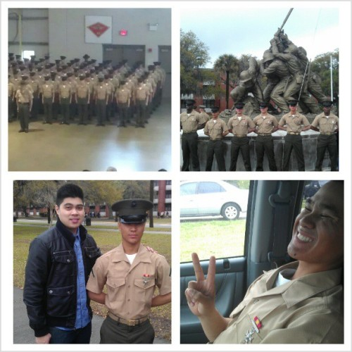 So proud of my little cousin! PFC Virgilio Mendoza Jr. USMC. Congrats!! @flipboy93  (at U.S Marine Blount Island Base)