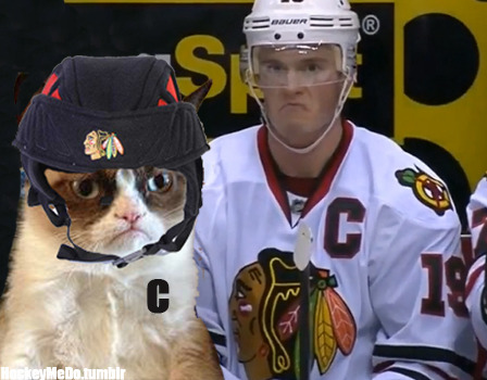 hockeymedo:  Grumpy cat = Jonathan Toews to: @rovsn
