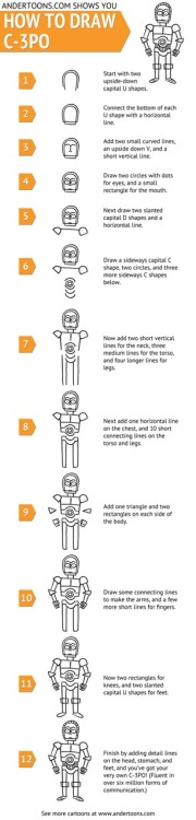 jffcrmr:  How to draw cartoon C-3PO: http://bit.ly/12wflB9
