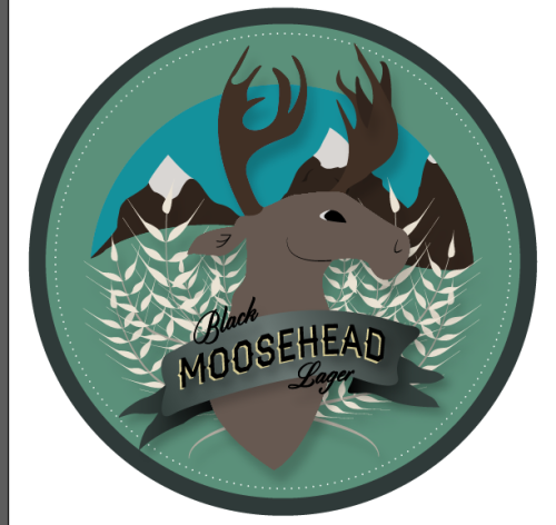 MOOSEHEAD Lager Logo for packaging project in my design class